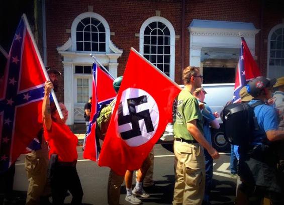 charlotteville nazi flag