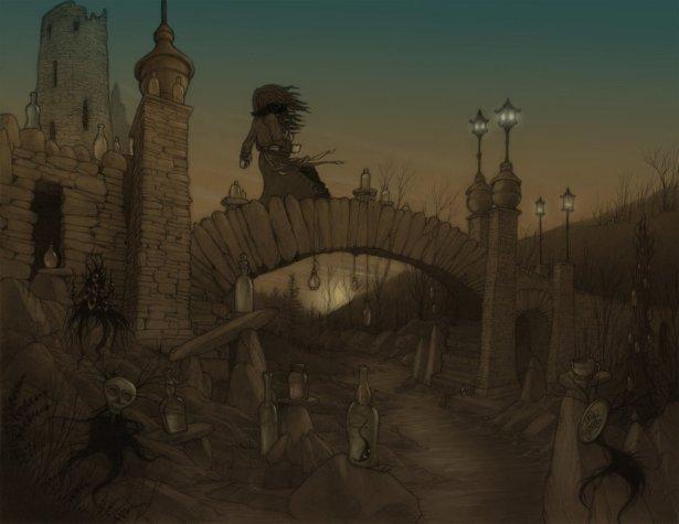 bridge_of_bottles_by_copperage-d2ymw5f